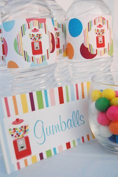 Gumball Decorations for Birthday Party or Baby Shower - Girls Sweet Shop DIY Printable Decor by BeeAndDaisy - Instant Download. $12.00, via Etsy.