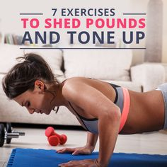 Work up a sweat and get strong! Here are 7 Exercises to Shed Pounds and Tone Up. #SkinnyMs