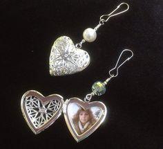 Wedding bouquet Locket. Heart locket. Bridal by SmilingBlueDog