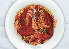 Spaghetti With Lobster, Chiles And Mint Recipe | Food Republic