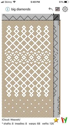 Weaving Designs, Weaving Projects, Weaving Patterns, Knitting Patterns, Tablet Weaving, Loom Weaving, Hand Weaving, Lace Weave, Dobby Weave
