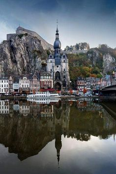 Dinant on the Meuse River in Belgium  ️