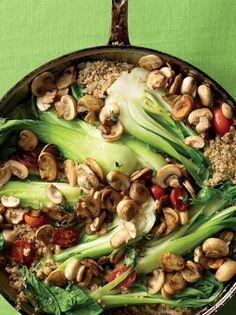 Bok Choy Skillet Supper - this recipe is NOT Gluten Free but can be made with brown rice or quinoa instead.