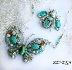 Summer is coming and we present you a beautiful collection of amazing beaded jewelry with butterflies.