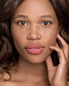 Palesa Morgan, Megan Davies Photography, Amy Louise Tourell, freckles unique beauty editorial freckled natural makeup look skin retouch cape town south africa soft light
