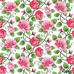 papel tapiz vintage floral