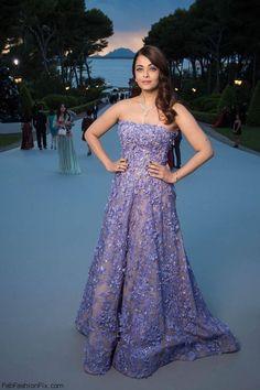 Aishwarya Rai wearing Elie Saab Couture gown at Cannes amfAR's 22nd Cinema Against AIDS Gala. #cannes #amfar