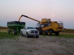 CombiningCorn 2012 in Southeast Iowa....and a Happy Harvest Moon!