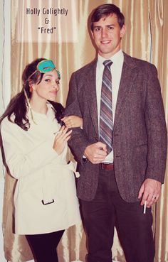 """In Honor Of Design: DIY Couples Costume: Holly Golightly & """"Fred"""""""