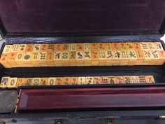A personal favorite from my Etsy shop https://www.etsy.com/listing/275598768/antique-mahjong-set