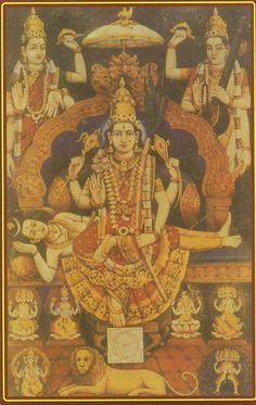Goddess Raja Rajeswary, the Supreme Mother goddess who is even above Lord Shiva himself.