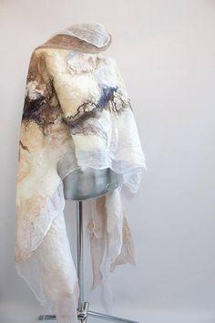 Items similar to Large Mother Bride shawl White Shawl Nuno felted shawl Wool tippet Nuno felted wrap wool shawl Hand painted Wool wrap on Etsy Nuno Felt Scarf, Wool Scarf, Felted Scarf, Bridal Shawl, Wedding Shawl, Silk Organza, Chiffon, White Shawl, Evening Shawls