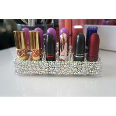 diy lipstick holder very affordable youtube diy crafts blinged lipstick holder solutioingenieria Gallery