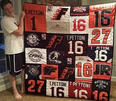 Do you have a lot of money invested in the jerseys and you can't bring yourself to throw them away? If so, you are an candidate for a hockey jersey quilt. This article has everything you need to know to plan your hockey jersey quilt.
