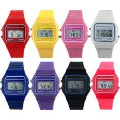 New Silicone Rubber Strap Retro Vintage Digital Watch Boys Girls Mens Price Cut #pendoshopWholesale #Sport