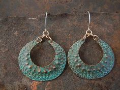 Handmade Copper Gypsy Hoops by SacredCowJewelry on Etsy, $40.00