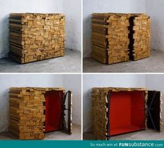 Funny pictures about A secret storage shed. Oh, and cool pics about A secret storage shed. Also, A secret storage shed. Hidden Spaces, Hidden Rooms, Hidden Bed, Hidden Compartments, Secret Compartment, Secret Storage, Hidden Storage, Wood Storage, Overhead Storage