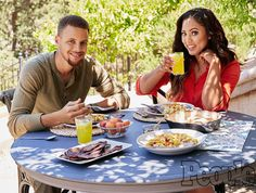 """As a cookbook author and Food Network star, Ayesha Curry is always cooking up new dishes for her husband, Golden State Warriors point guardStephen Curry, and their two daughters— but on game day, she sticks to the basics.  """"We have pasta, and I make the same sauce every time,"""" Ayesha tells Bon Appetit"""