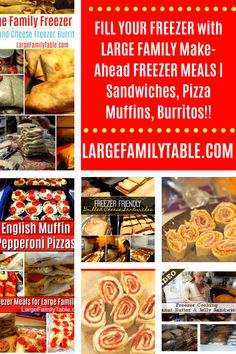 My Kitchen Archives - Page 3 of 24 - Large Family Table Make Ahead Freezer Meals, Make Ahead Lunches, Freezer Cooking, Snowcream Recipe, Ham And Cheese Pinwheels, Lunch Recipes, Meal Recipes, Chicken Spaghetti Recipes, Lunch Items