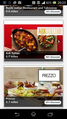 TryAround App  Food Discount Club, Loyalty Food App for Apple and Android