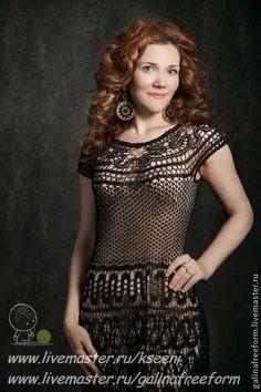 """Платье """"Алтынгуль"""" - чёрный,орнамент,брюггское кружево,черное элегантное платье"""