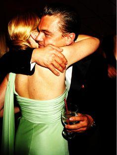 Leonardo DiCaprio and Kate Winslet hug- Revolutionary Road
