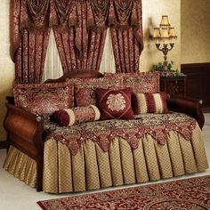 Palatial Ruffled Flounce Daybed Bedding Set - Bedding Set - Ideas of Bedding Set - Palatial Daybed Set Daybed Comforter Sets, Daybed Room, Daybed Sets, Daybed Covers, Duvet Covers, King Comforter, Comforters, Cheap Bed Sheets, Cheap Bedding Sets