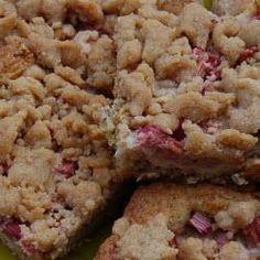 Rhabarber-Streuselkuchen vom Blech @ de.allrecipes.com