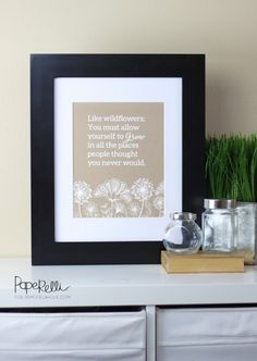 Daily DIY: Allow Yourself to Grow; Wildflower Printable Quote pdf schon gespeichert