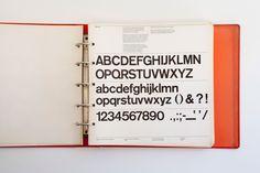 New York City Transit Authority Graphics Standards Manual, 1970 #MassimoVignelli #typography #Pentagram
