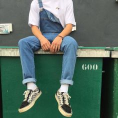 Trendy how to wear denim overalls outfit Indie Outfits, Retro Outfits, Cool Outfits, Fashion Outfits, Cheap Outfits, Fresh Outfits, Grunge Outfits, Mode Dope, Mode Man