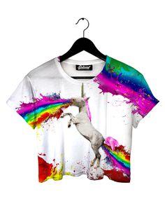 Unicorn Spew Crop tee by Beloved Shirts