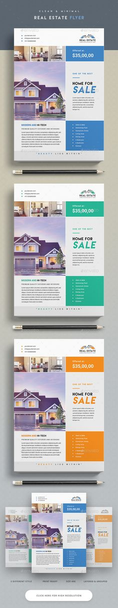 Real Estate Flyer  — PSD Template #green #business • Download ➝ https://graphicriver.net/item/real-estate-flyer/18202761?ref=pxcr