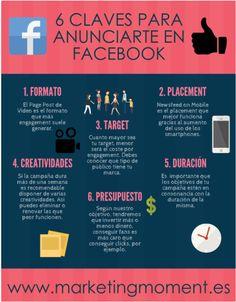 Infografía con 6 claves basadas en el marketing que necesitas saber para sacarle partido a tu campaña publicitaria en Facebook.