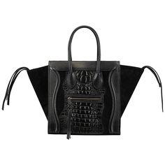 Black Crocodile Chic Bag