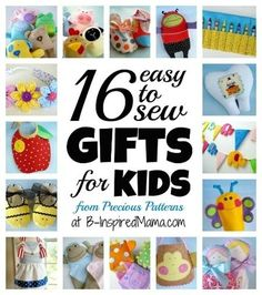 16 Easy to Sew Gifts for Kids from Precious Patterns #sponsored #sewing #diy #kbn #binspiredmama
