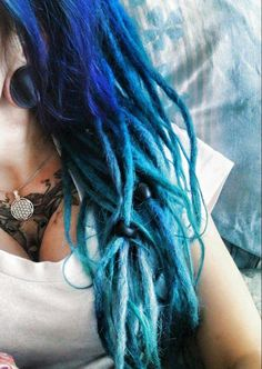 Blue dreadlocks