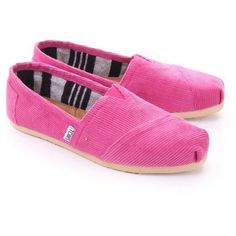 NEW WOMEN TOMS  CLASSICS ROSE CORDUROY    SANDALS FLATS  SLIP-ON SHOES * 9