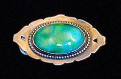 Original Vintage Art Nouveau Silver Ruskin Pottery Belt Adornment/Buckle/Pendant | eBay
