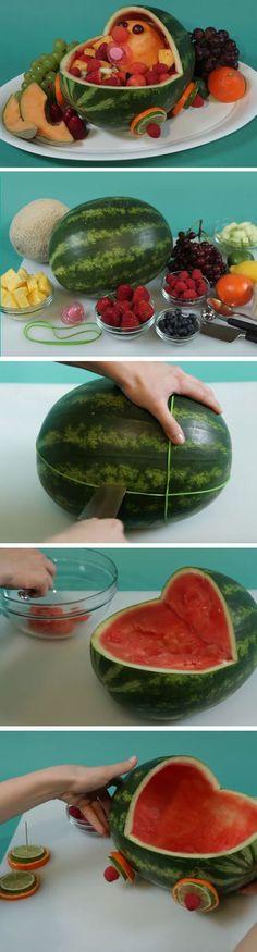 Stroller Fresh Fruit Salad   DIY Baby Shower Ideas for a Girl   Easy Birthday Party Ideas for Girls DIY