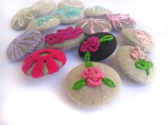 embroidered and embellished buttons