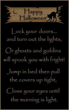 Cute Halloween Poem
