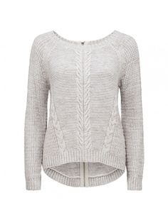 Simone cable Textured sweater Iced Grey - Womens Fashion | Forever New