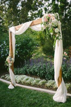 elegant white wedding arches/ rustic chic wedding arches/ spring wedding arches