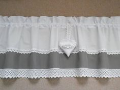 Vintage Curtains, Shabby Chic Curtains, Valance Curtains, Semi Transparent, White Lace, Etsy, Mamma, This Or That Questions, House