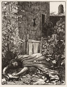 John Everett Millais - The Wicked Husbandman. - The Parables of Our Lord (engraved by the Dalziel Brothers) - 1864