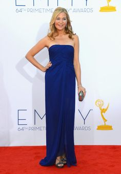 Jennifer Westfeldt at the Emmy's. RfR's Sapphire Silk Chiffon Sleeveless Gown by Jill Stuart has the same beautiful cobalt colour. Retail 480.00, Rental 125.00 for 4 days