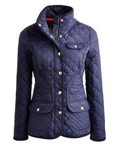 CALVERLY Womens Coat - Joules.com Navy Coat 4c7a85932