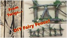 DIY Fairy Garden Fence Tutorial, learn how to make a Scale fence for your Fairy Garden. Supplies that I used: Dried twigs / branches Garden scissor X-ac. Fairy Garden Houses, Fairy Gardens, Fairy Furniture, Diy Fence, Upcycled Crafts, Drying Herbs, Dollhouse Miniatures, Thing 1, Crafty