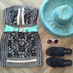 Stay Cool in Blue  Get the look online at www.shopsplash.com @threefloor @hatattackny #shopsplash #summer #tgif #happyfriday #love #ootd #friday #style